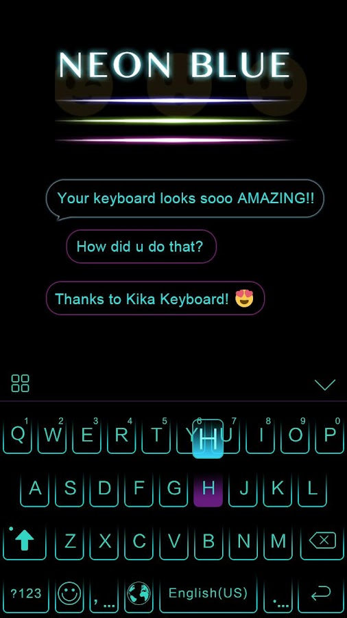 Neon-Blue-Kika-Keyboard-Theme 6
