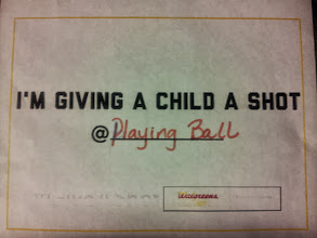 Photo: By getting my flu shot at Walgreens I am giving a child a shot @ Playing Ball!