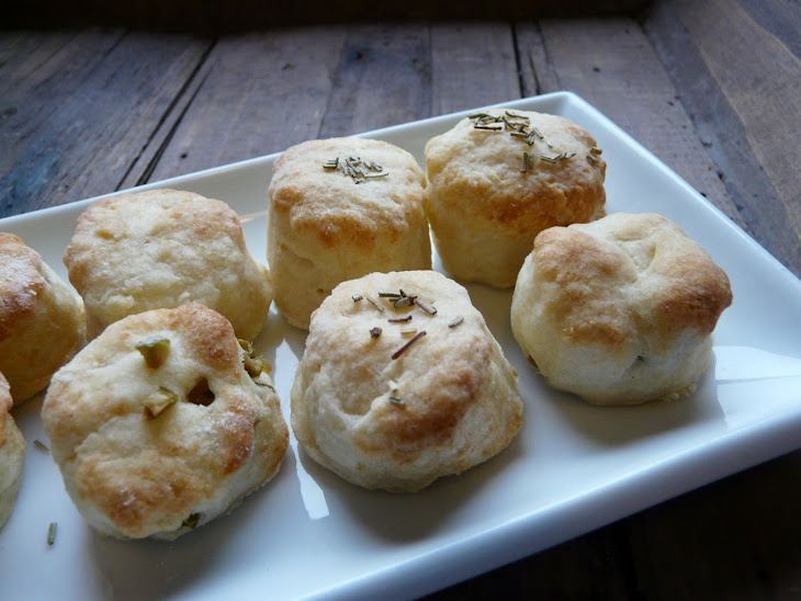 Mini Scones with Parmesan and Olives