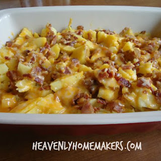 Easy (Make-Ahead) Baked Potato and Bacon Casserole.