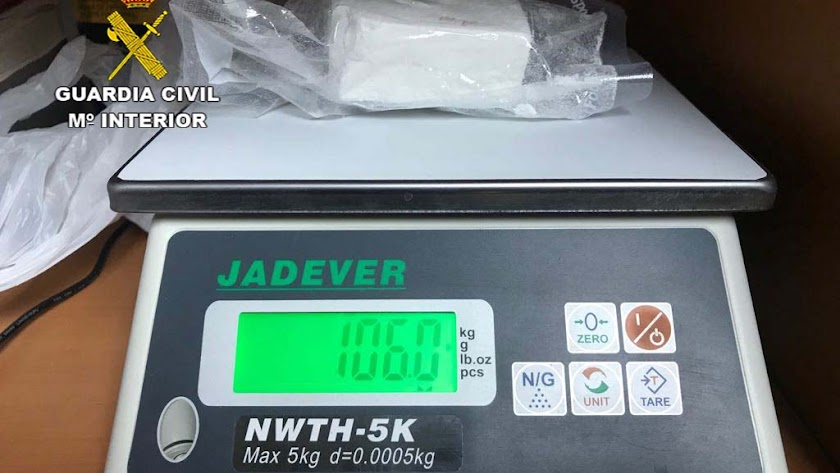 Detenida una persona con más de 100 gramos de cocaína