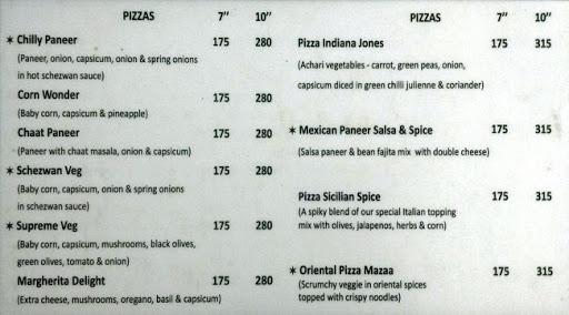 Baker's Lounge menu 1