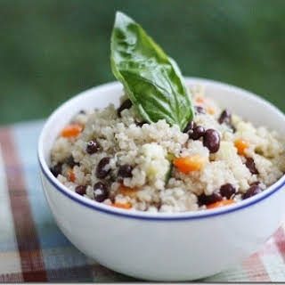 Easy Black Bean and Quinoa Salad with Quick Cumin Dressing (gluten free, soy free).