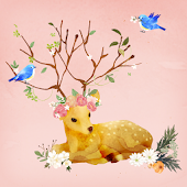 Dear Flower deer Atom Theme
