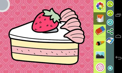 食品 图片上色游戏