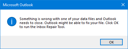 repair Outlook 2016 inbox