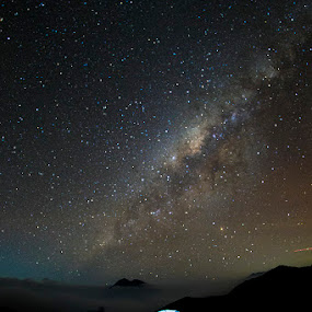 Night at Ijen mountain by Zaenal Arifin - Landscapes Starscapes