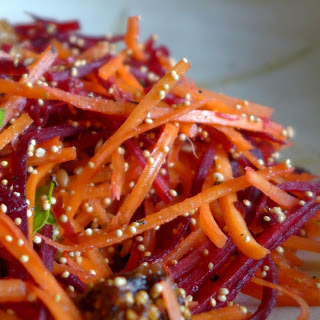 Carrot Beet Amaranth Super Salad