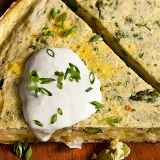 Asparagus Frittata with Horseradish Sour Cream
