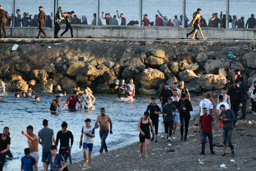 La crisis migratoria en Ceuta, en imágenes