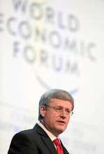 Photo: DAVOS/SWITZERLAND, 26JAN12 - Stephen Harper, Prime Minister of Canada is captured during the session 'Special Address' at the Annual Meeting 2012 of the World Economic Forum at the congress centre in Davos, Switzerland, January 26, 2012.  Copyright by World Economic Forum swiss-image.ch/Photo by Monika Flueckiger