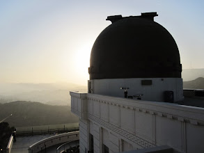 Photo: Observing the sun - Looking west toward the solar telescopes dome