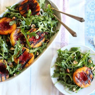 Simple Peach Arugula Salad