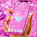 Pink glitter live wallpaper icon