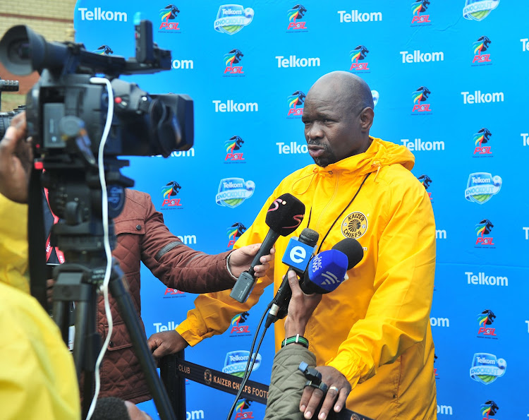 Kaizer Chiefs' head coach Steve Komphela speaking to the media at the club's headquarters in Naturena, south of Johannesburg, ahead of their Telkom Knockout semifinal match away at Bidvest Wits on Saturday 18 November 2017.