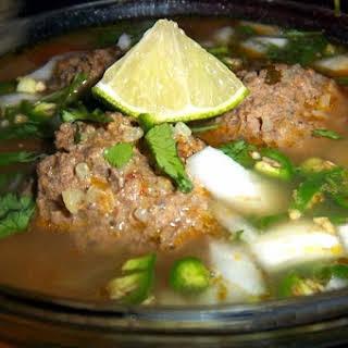 Caldo de Albóndigas (Meatball Soup).