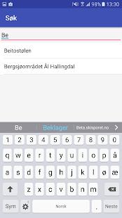 Skisporet.no Android app screenshot