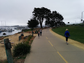 Photo: Walking to the Cannery Row in Monterey