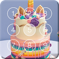 Sweet Unicorn Cake Screen Lock APK