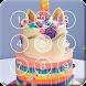 Sweet Unicorn Cake Screen Lock