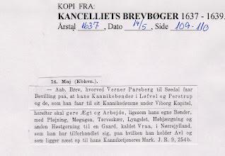 Photo: Kancelliets Breve 1637
