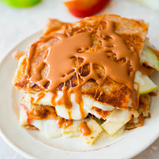 Caramel Apple Brie Quesadillas