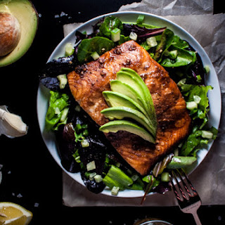 Salmon Salad with a Toasted Sesame Seed Dressing Recipe