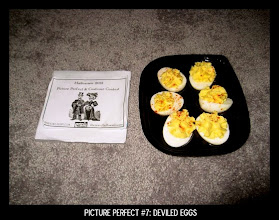 Photo: Point values for this target: 3 Points for a pack of deviled eggs at the grocery store; 5 Points for homemade deviled eggs on an egg platter; 7 points for a person eating deviled eggs. Email your submission to contests@superficialgallery.com.