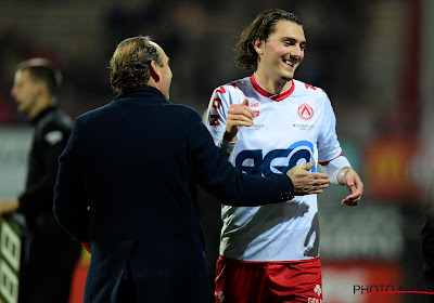 Yves Vanderhaeghe reageerde opgelucht na de 4-0 zege van Kortrijk tegen STVV