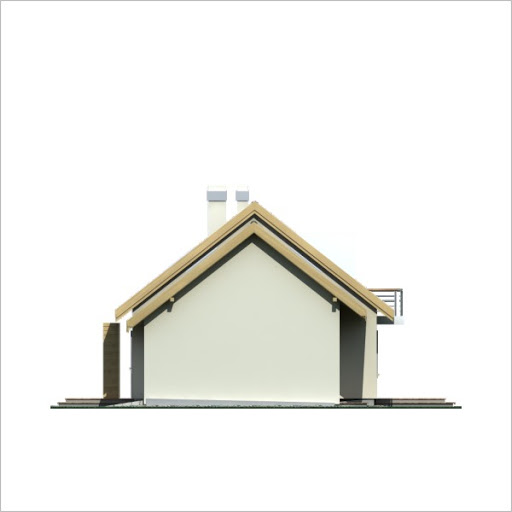Adaś II wersja B z pojedynczym garażem - Elewacja prawa