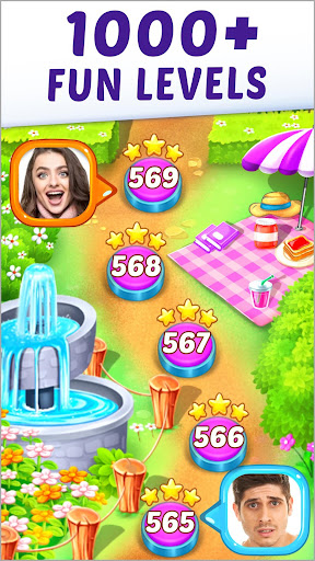 Gummy Paradise - Free Match 3 Puzzle Game apkpoly screenshots 6