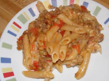 Penne with sausage tomato cream sauce