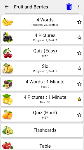 Fruit and Vegetables, Nuts & Berries: Picture-Quiz 3.0.0 screenshots 10
