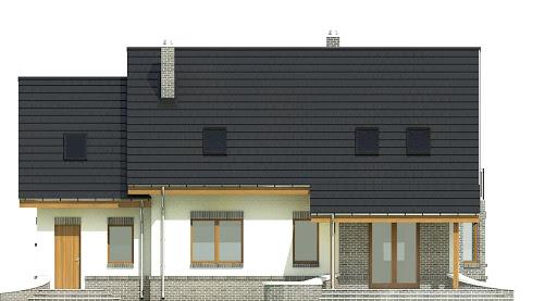 Dom Dla Ciebie 2 w2 z garażem 1-st. A - Elewacja tylna