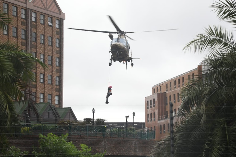 Watch|Centurion Hotel guests and staff airlifted to safety after floods - SowetanLIVE