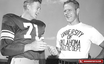 Photo: Wilkinson with All-American tackle Jim Weatherall in 1950.