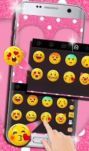 Pink Dot Girly Cuteness Minnie Keyboard Theme - náhled