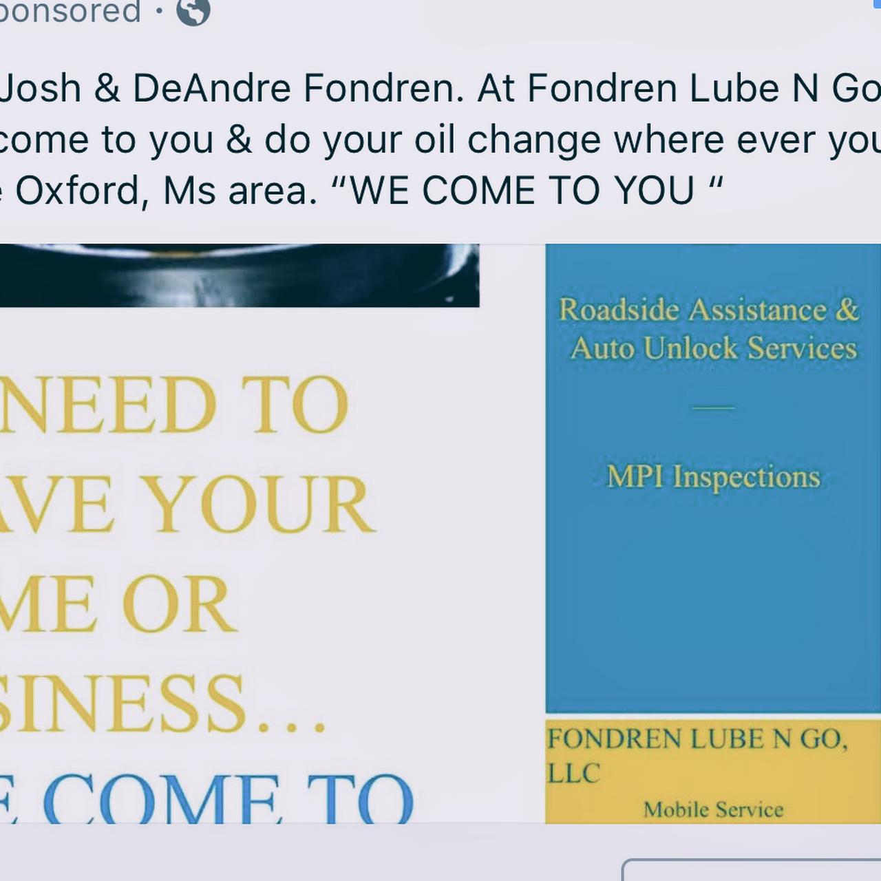 Lube N Go >> Fondren Lube N Go Llc Oil Change Service In Oxford