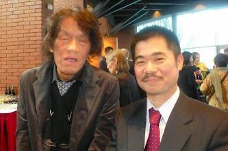 Photo: Artysta Takashi Matsunaga iYoshito Okada, Prezes Związku Pracodawców Shokokai