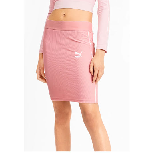 Puma 2019 Womens Golf Skirt, PWRSHAPE Solid Knit, Pale Pink