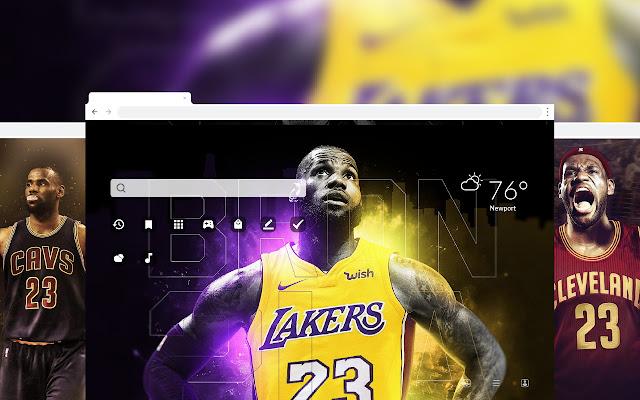 Lebron James NBA HD Wallpaper Theme