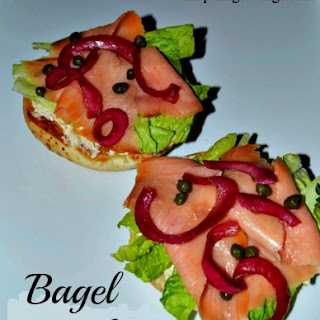 Twisted Bagel with Lox and Pickled Pomegranate Onions Recipe!
