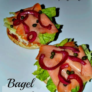 Twisted Bagel with Lox and Pickled Pomegranate Onions Recipe!.
