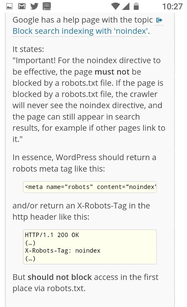 Cambios en la versión de WordPress 5.3 evitará que el sitio web sea Indexado 4