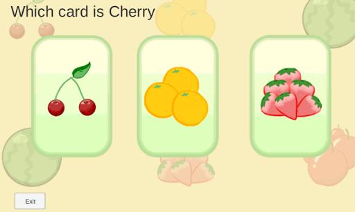 認識5種水果 英文測試版2