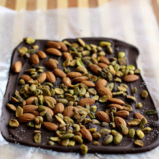 Dark Chocolate Almond Pistachio Bark.