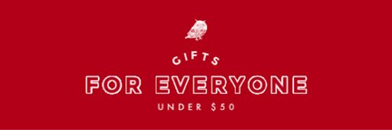Gifts for Everyone Under $50 - Christmas Template