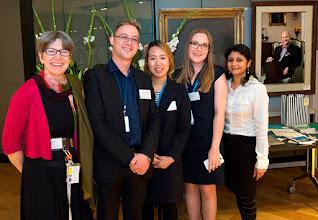Photo: The team. L-R: Julia Veitch, Steven Petratos, Erica Kim, Dussy Kuttner, Sharmila Ramesh. http://www.med.monash.edu.au/cecs/events/2015-tr-symposium.html