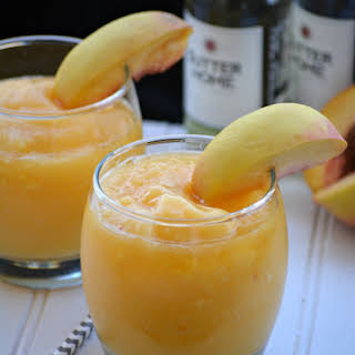 Peach White Wine Slushies.
