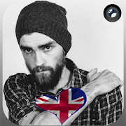 United Kingdom Flag Heart Effect : Photo Editor APK